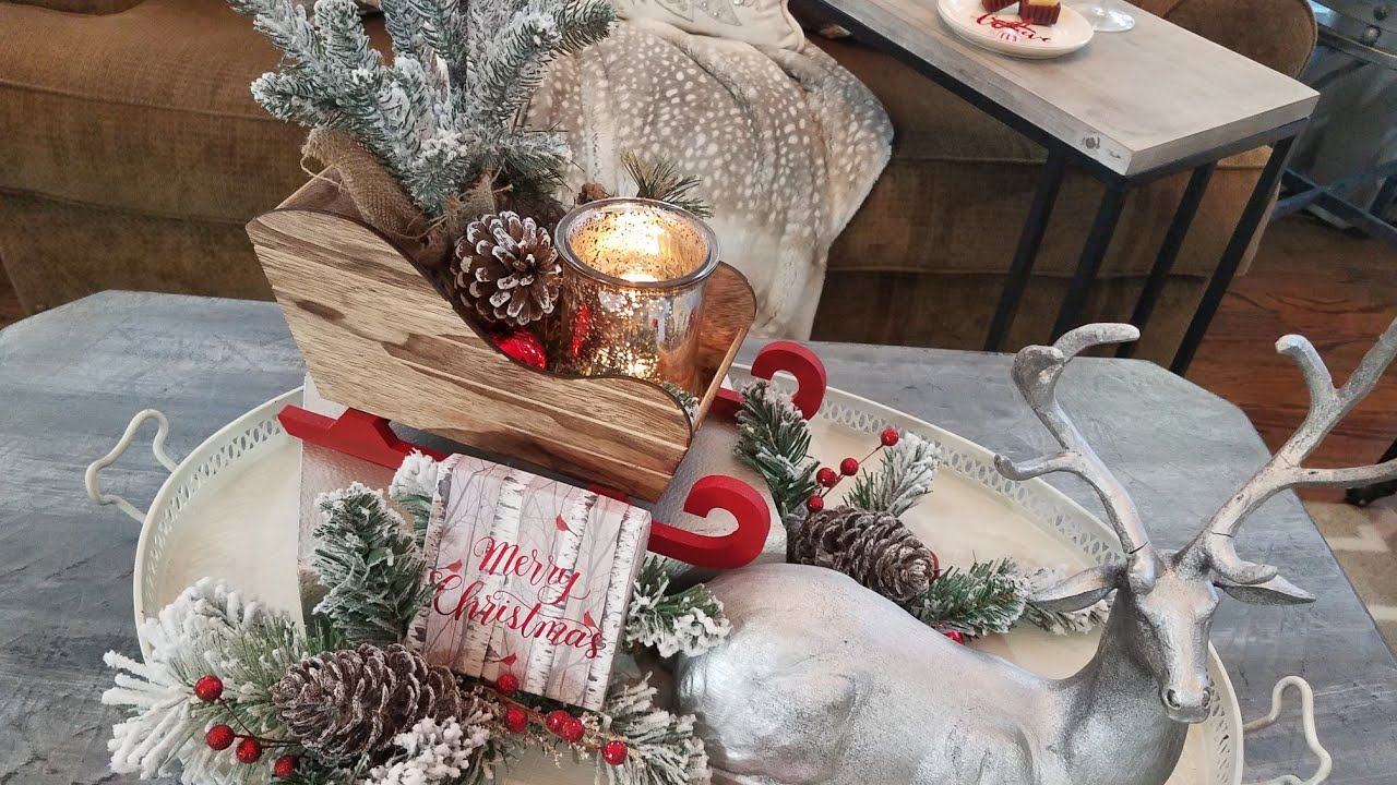 Christmas Coffee Table Ideas 2018/Modern Farmhouse/ Rustic ...