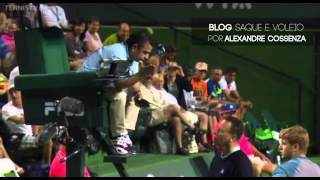 Fognini gets mad at chair umpire - Indian Wells 2014