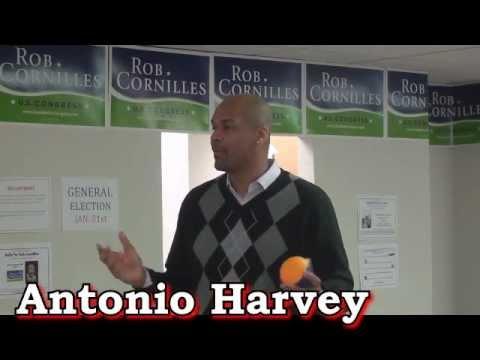 Antonio Harvey - Rallies volunteers at Cornilles for Congress HQ