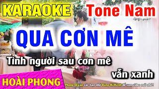 Karaoke Qua Cơn Mê - Tone Nam - Nhạc Sống Hoài Phong Organ