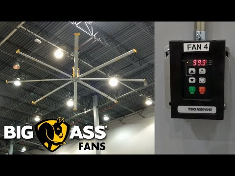 """BIG ASS"" 24 Foot Ceiling Fan - Powerfoil 8 Demo"