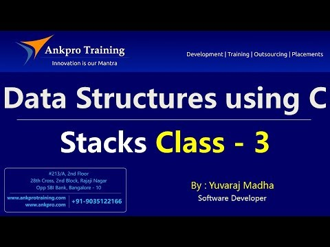 Data Structures using C Part 3 - Stack algorithms | Stack operations | Stack algorithms