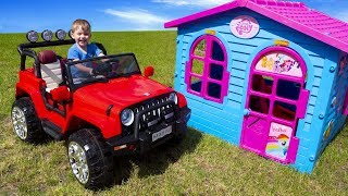 ride on power wheel artur unboxing and assembling car video for kids by melliart