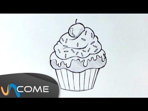 Come Disegnare Un Muffin O Un Cupcake Facilmente Youtube