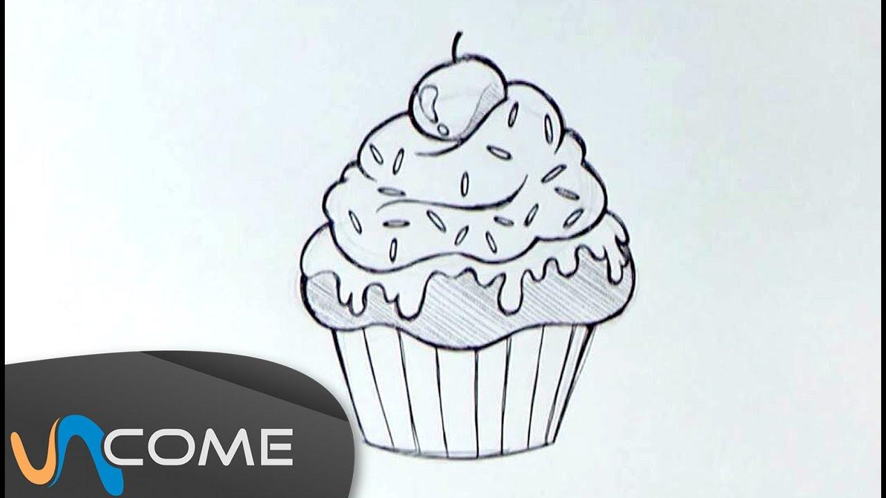 Come disegnare un muffin o un cupcake facilmente youtube for Disegni da colorare tumblr