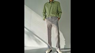 남자 간절기 스판 셔츠 밴딩 슬랙스 미니멀 심플 추천 …