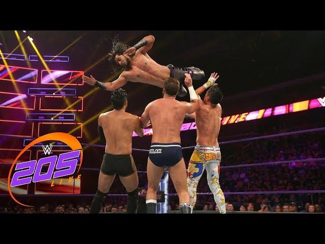 Mustafa Ali vs. TJP vs. Hideo Itami vs. Drew Gulak: WWE 205 Live, July 24, 2018
