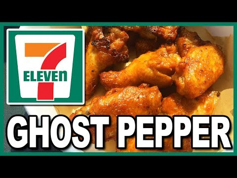 🔥 HOTTEST FAST FOOD EVER!!!🔥  7-Eleven Ghost Pepper Wings