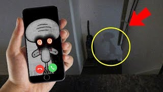 CALLING SQUIDWARD ON FACETIME AT 3 AM!! (HE CAME TO MY HOUSE) thumbnail