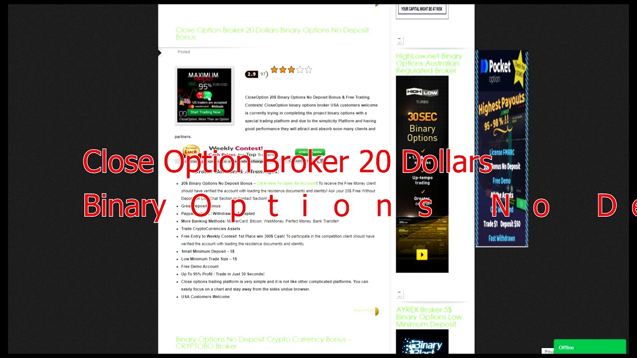 Free no deposit binary options bot ante post betting football system