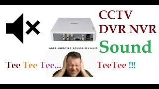 Hikvision DVR NVR Sound Tee Tee Tee TeeTee !!! Disable Alarm Beeping Sound