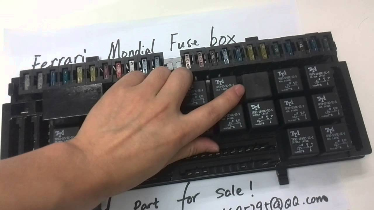 Ferrari Fuse Box Wiring Diagram Parts Of A Mondial Youtube Old