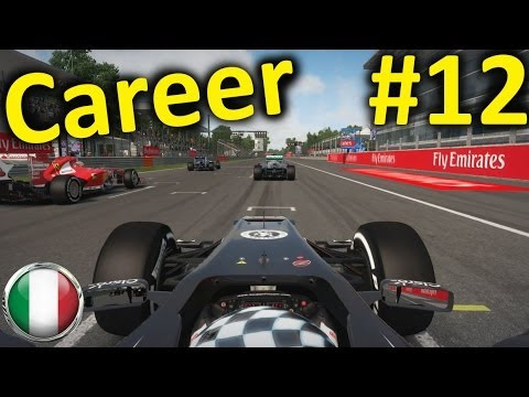 F1 2013 Monza 100% Career Mode Part 12: Italy - YouTube