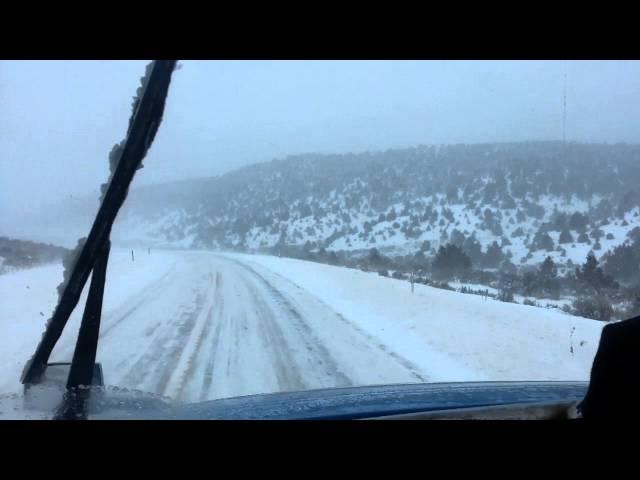 Pt 3 Big Rig Winter Truck Driving in a Blizzard in Utah