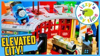 Томас і друзі BIGJIGS п'ять способів сарай і підвищеними міста! Забавна іграшка поїзда для дітей!
