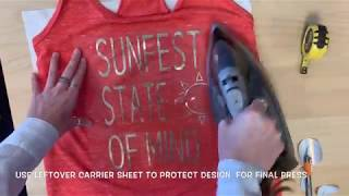 Applying Liquid Metallic Heat Transfer Vinyl to Moisture Wicking T-Shirt - iCraft Vinyl