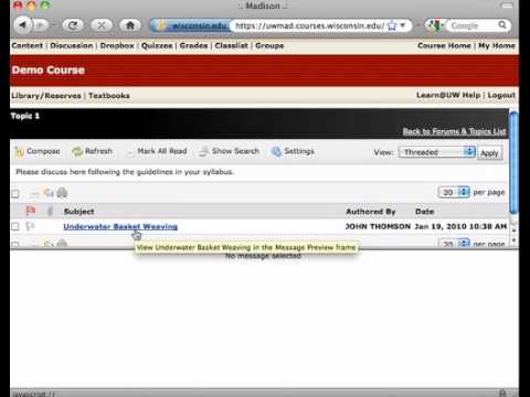 Using the Discussion Forum (for Students)