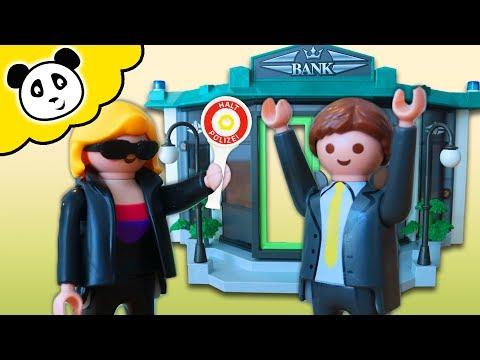 ⭕ PLAYMOBIL Polizei - Bank Mit Geldautomat  - Spielzeug Ausgepackt & Angespielt - Pandido TV