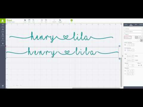 How To Create Continuous Cursive Words With Heart In Cricut With MF I Love Glitter - Beginner Lesson