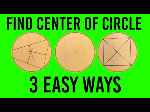 Find the Center of a Circle (3 EASY and QUICK Ways)