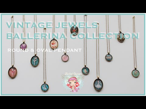 Vintage Jewels Round & Oval Pendant Collection | Ballet Papier バレエパピエ