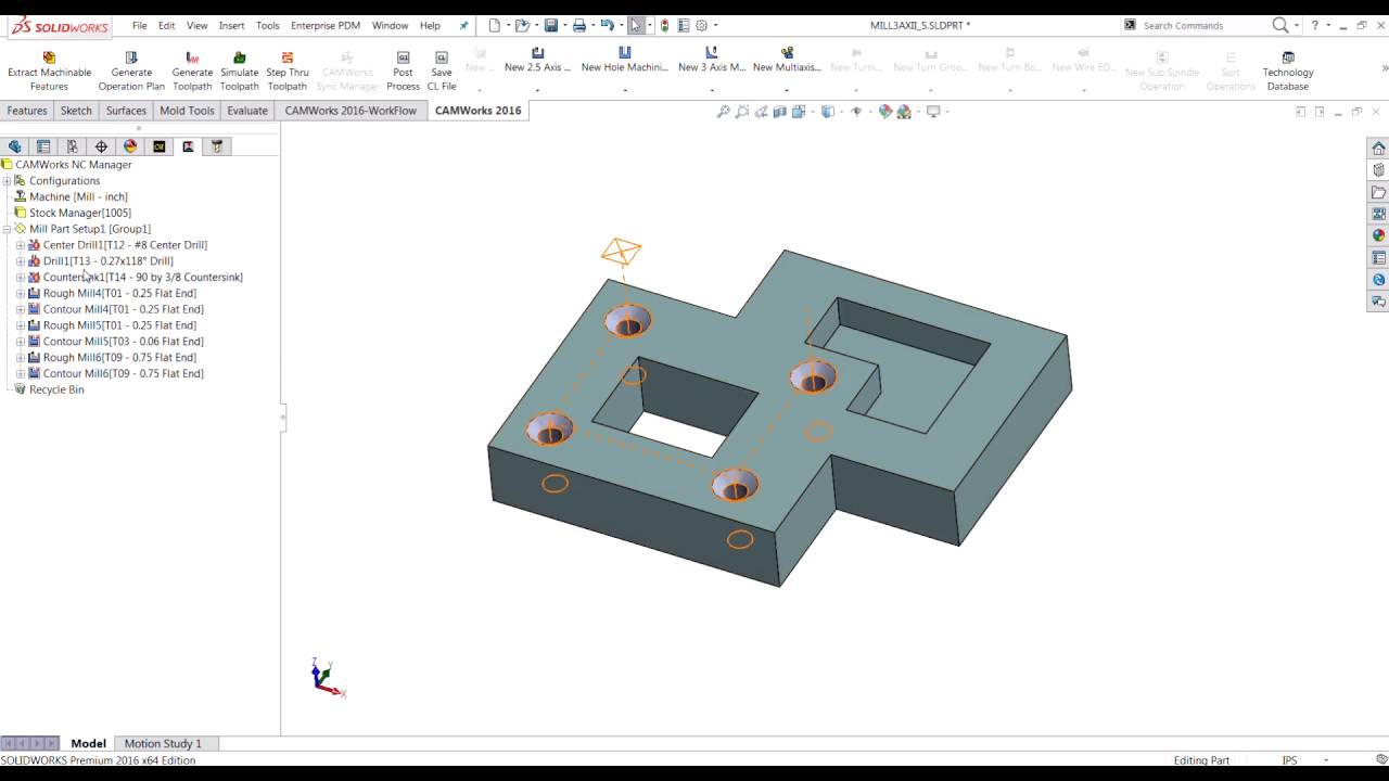 CAMWorks ToolCribs and AFR Tool Selection - YouTube