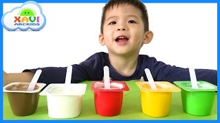 Learn colors with ice cream for children, toddlers and babies - Lots of colorful ice cream