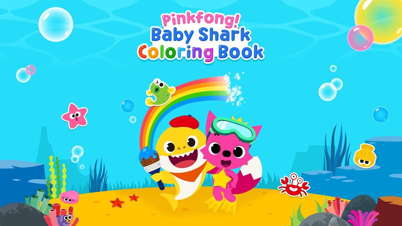 App Trailer] Pinkfong Baby Shark Coloring Book - YouTube
