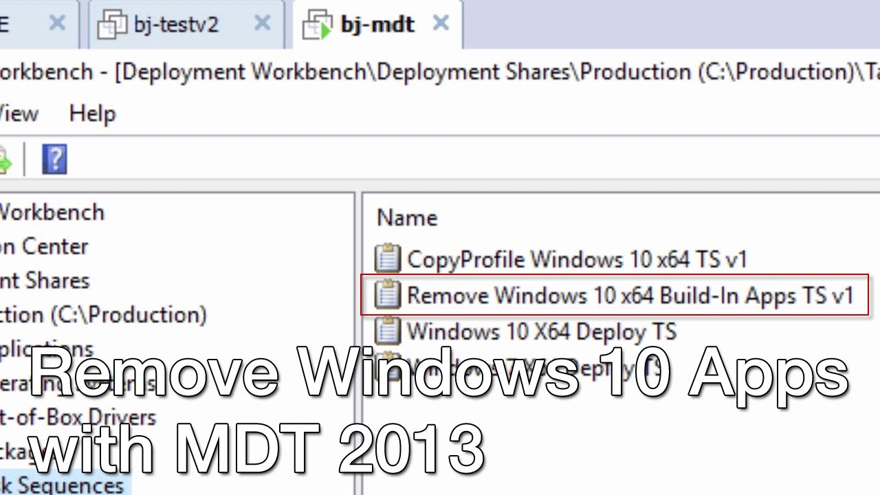 Remove Windows 10 Build Apps with MDT 2013!