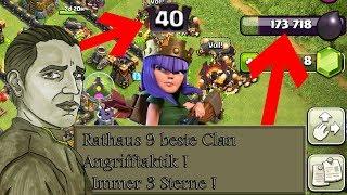 RATHAUS 10 - 180K DUNKLES IN 3 STUNDEN GEFARMT - QUEEN LVL 40 ! - CLASH OF CLANS
