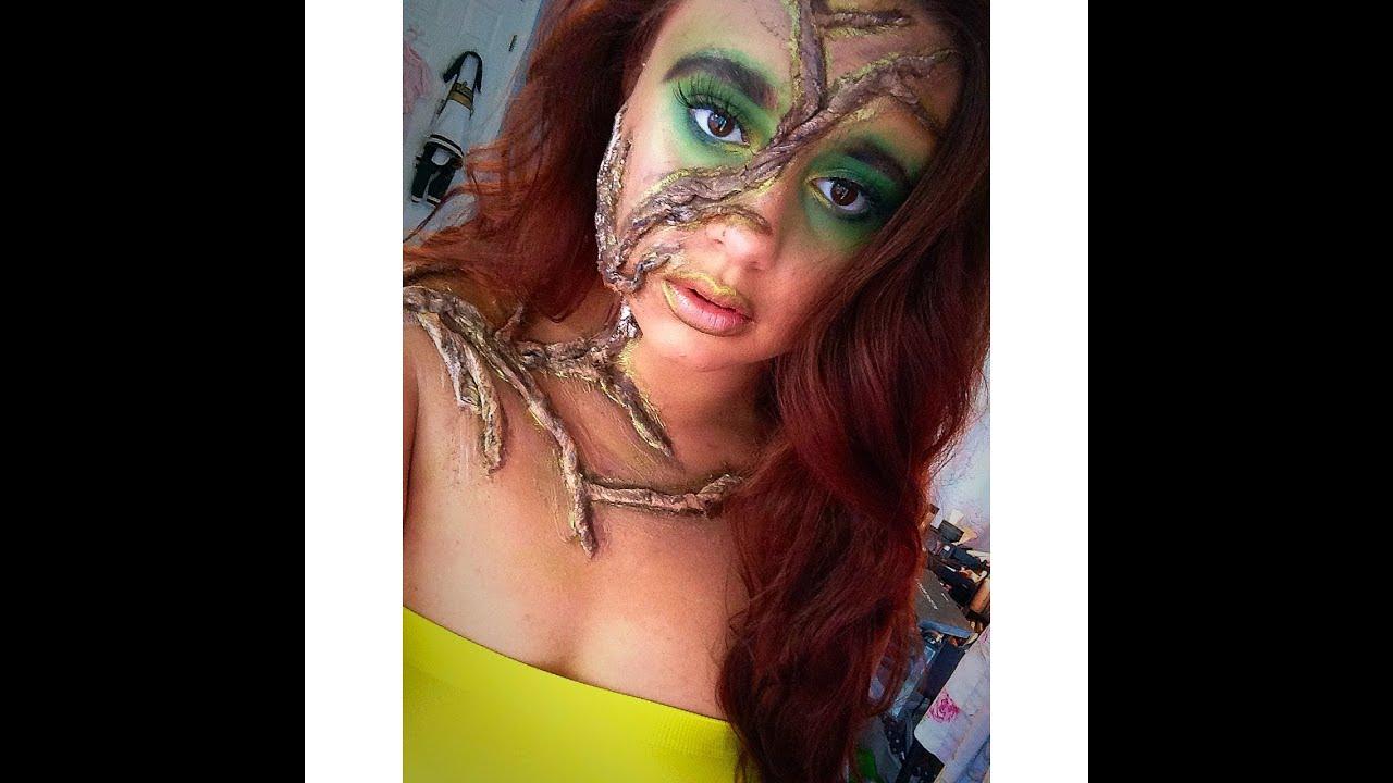 Mother Nature{ Halloween Makeup Tutorial} - YouTube