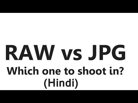 RAW vs JPG - Raw & Jpeg Difference (Hindi)