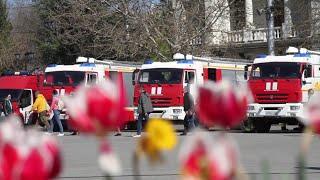 Торжественный развод караулов в честь Дня пожарной охраны в Севастополе