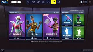 30/12/18 'NEW' Disco Diva peau Fortnite Item Shop