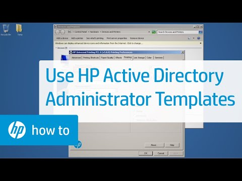 Using HP Active Directory Administrator Templates