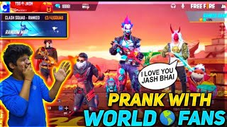 FREE FIRE || PRANK WITH WORLD RANDOM FANS- GIRLFRIEND PRANK WITH NARUTO WITH FACE CAM LIVE REACTION
