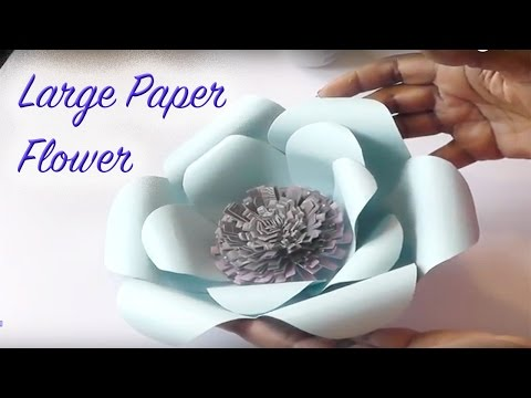 Diy Large Paper Flowers Paper Crafting Youtube