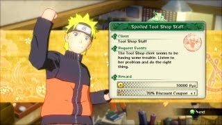 Naruto Ultimate Ninja Storm 3 Side Mission Walkthrough Part 54 Blueprint Gathering