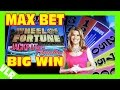 "NEW Wheel of Fortune Slot Machine: Jackpot Paradise - MAX BET ""Big Win"" BONUS"