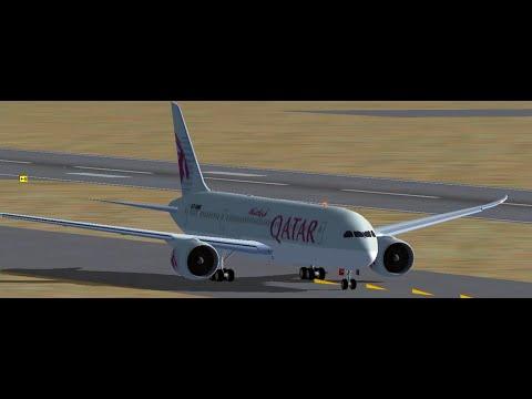FSX Qatar 787 Doha to Johannesburg