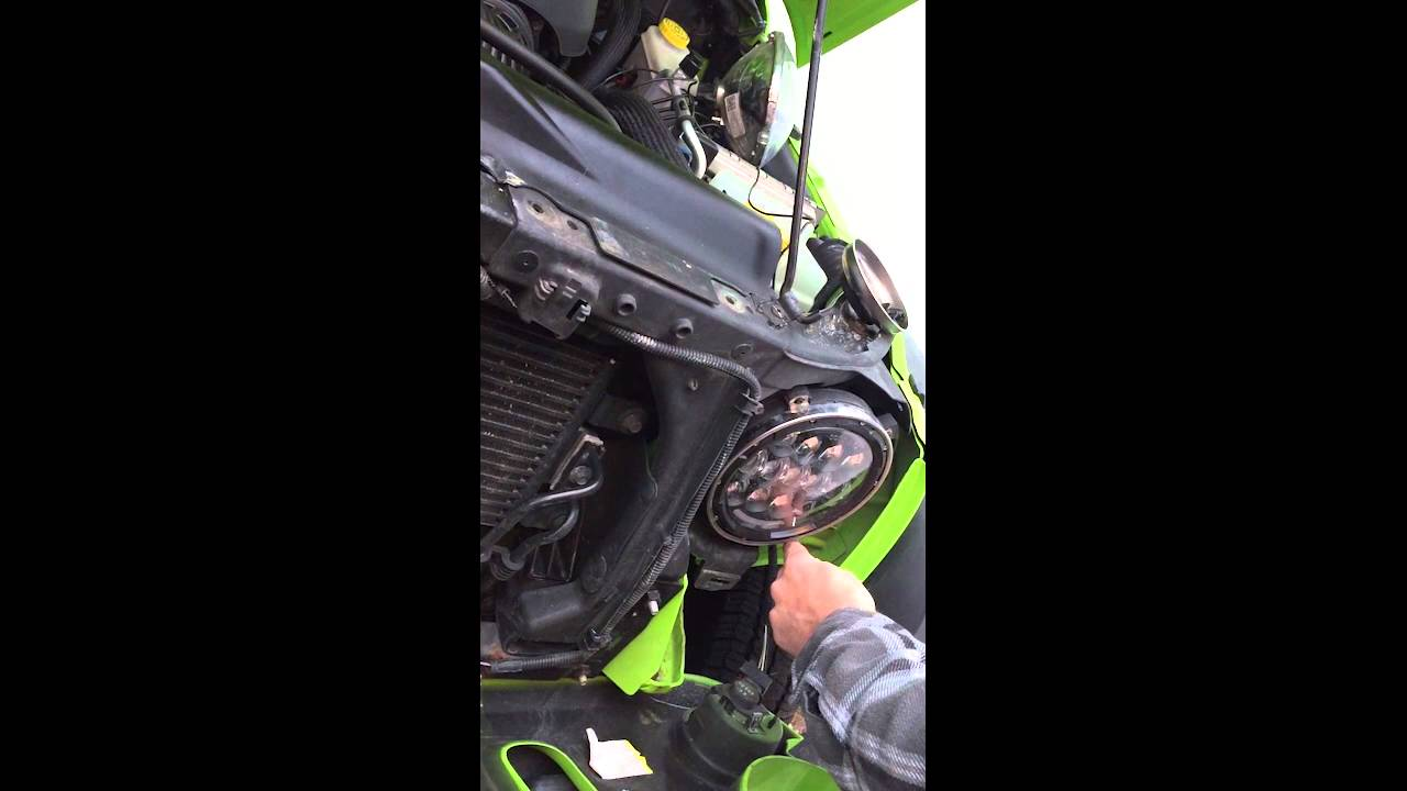 how to install a jeep headlight drl integrated led 7 by cyron for jeeps and harleys youtube [ 1280 x 720 Pixel ]