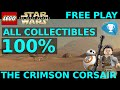 Lego Star Wars The Force Awakens - The Crimson Corsair 100% Gold Bricks + Collectible