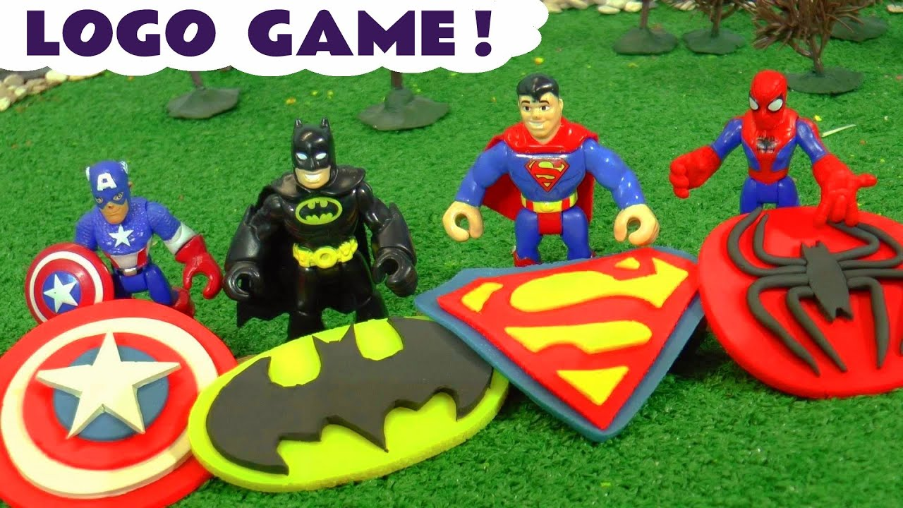 Spiderman Batman Superman and Avengers Captain America Logo Game Toy Story TT4U