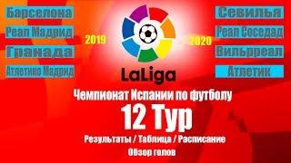 Футбол Чемпионат Испании Ла Лига 2019 20 12 Тур Результаты Таблица Расписание 13 тура