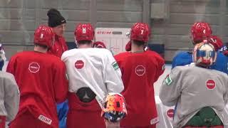 Что было на тренировке сборной России Как работают тренеры Брагин и Ларионов