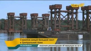 В Павлодарской области строится самый большой мост в Центральной Азии