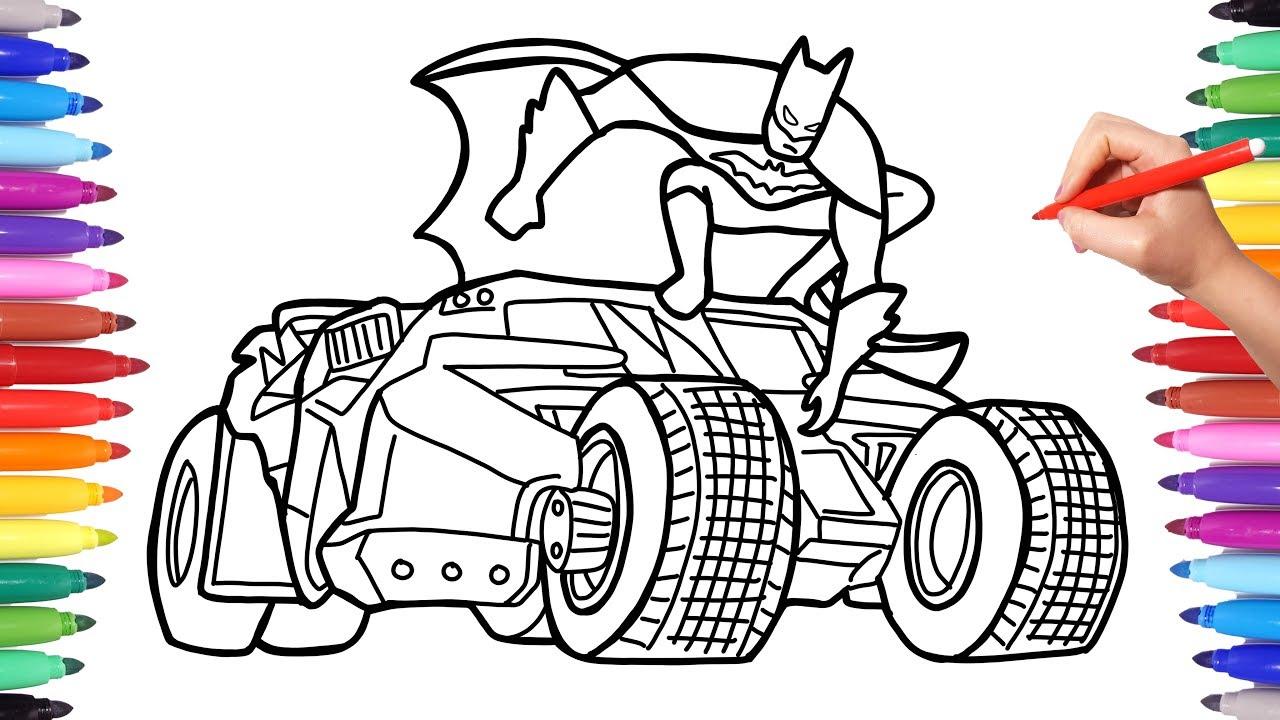 Batman Car Coloring Pages for Kids