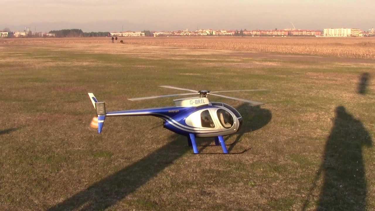 Elicottero Usato : Huges 500 big vario elettrico realizzato da hely go youtube