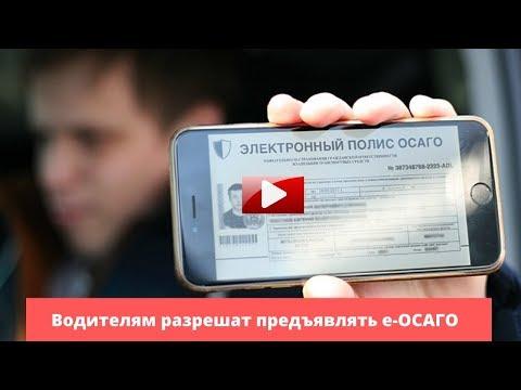 В России разрешили показывать при проверке электронный полис ОСАГО
