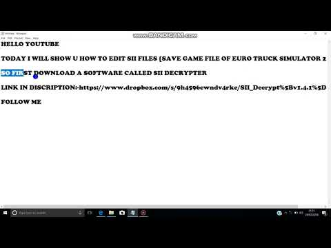 ETS 2 How to edit SII file (save game) (unlimited money